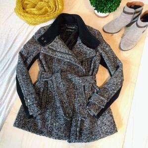 Express wool-blend coat